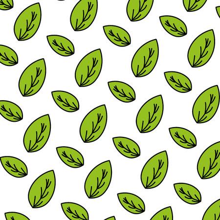 color botany nice leaf exotic background vector illustration Illustration