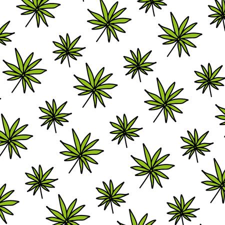 color branch tropical plant leaves background vector illustration