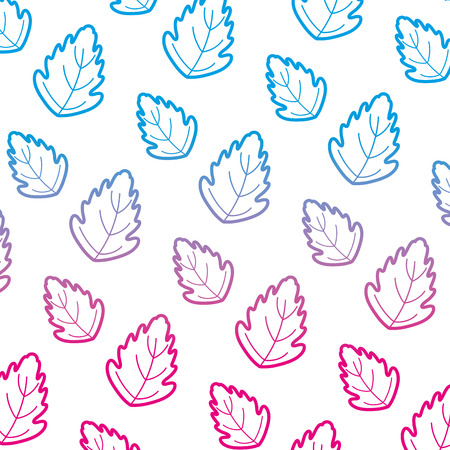degraded line botany cute leaf exotic background vector illustration