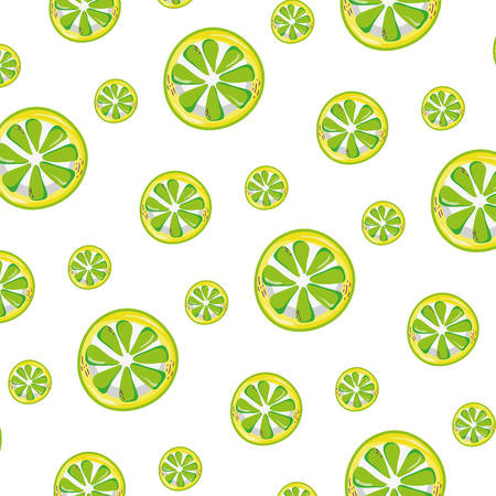 exotic slice lemon fruit background vector illustration