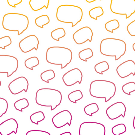 degraded line graphic chat bubble message background vector illustration