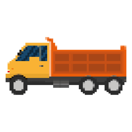 pixelated truck cargo industry transport