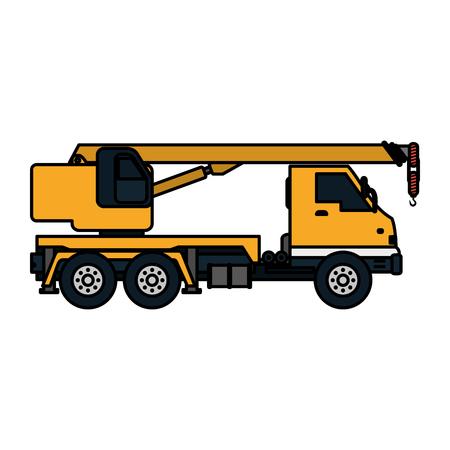 color truck pulleys construction equipment service vector illustration Illustration