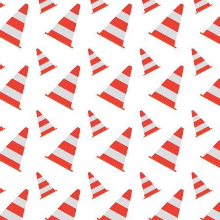 traffic cone warning attention background vector illustration Illustration