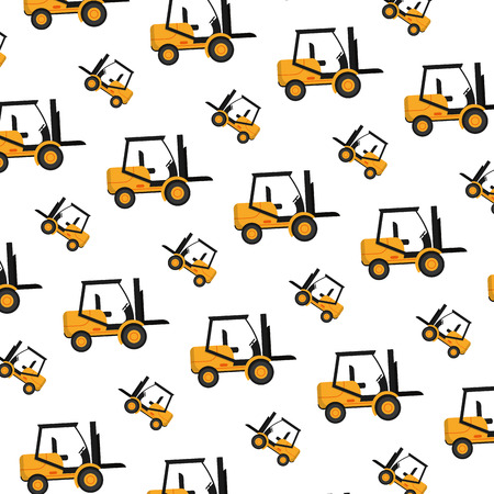 forklift mecanic equipment repair background vector illustration Illustration
