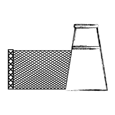 grunge factory industry machine engineer plant vector illustration Standard-Bild - 111974799