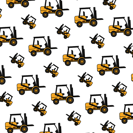 color forklift mecanic equipment repair background vector illustration