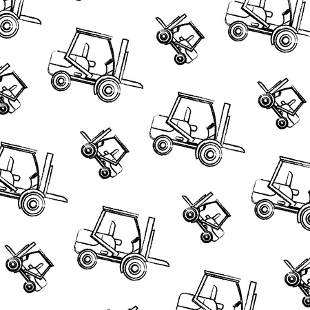 grunge forklift mecanic equipment repair background vector illustration