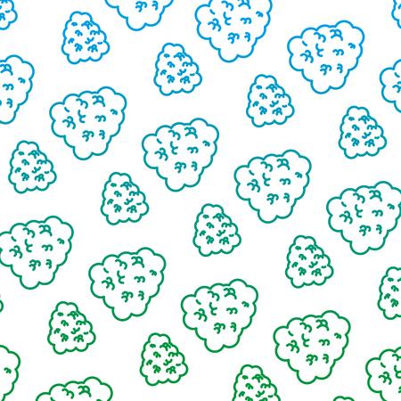 degraded line ecology bush leaves plant background vector illustration Illustration