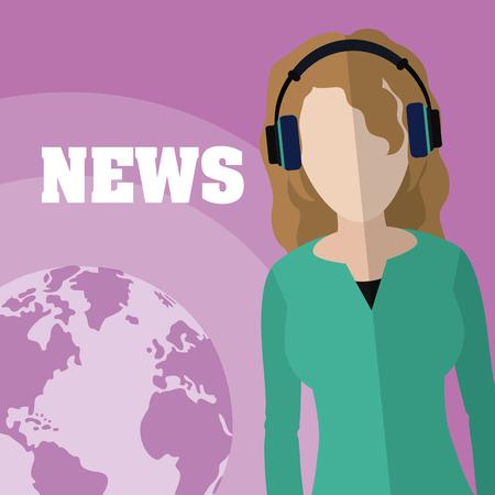 Woman journalist reporter