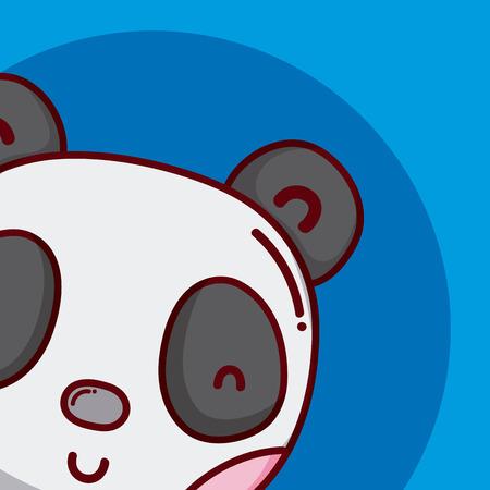 Cute and lovely panda bear cartoon vector illustration graphic design