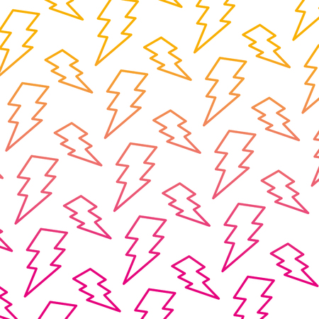 degraded line electric thunder darger symbol background vector illustration