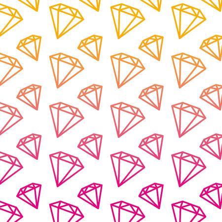 degraded line luxury diamond fashion accessory background vector illustration