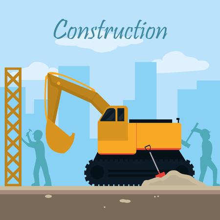 Concept de zone de construction Vecteurs