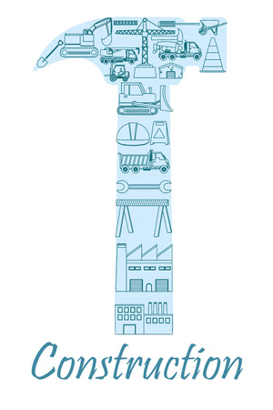 Construction industry concept Illustration