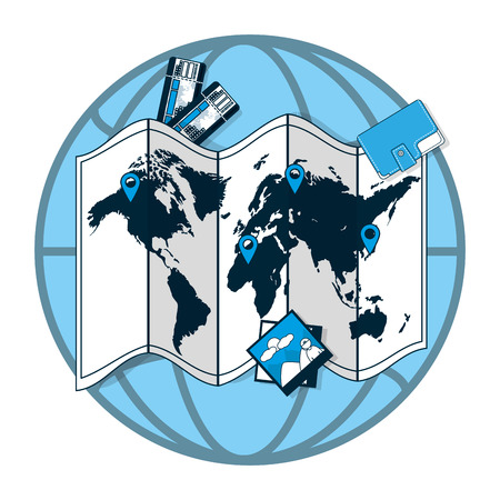 Travel around world Vettoriali