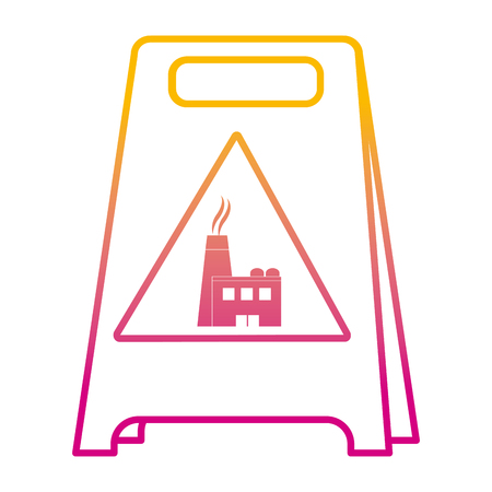 degraded line plastic caution emblem factory pollution vector illustration