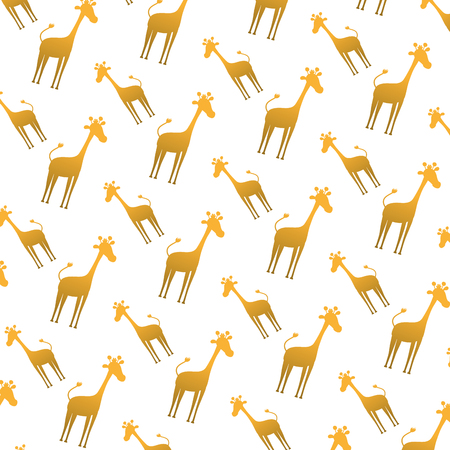 silhouette giraffe safari animal background vector illustration