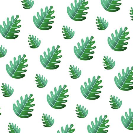 tropical leaf botany nature background vector illustration Illustration