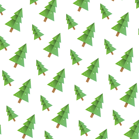 beauty pine tree with stalk background vector illustration