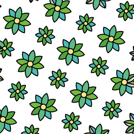 color beauty flower with natural petals background vector illustration