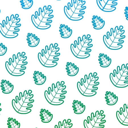 degraded line tropical leaf botany nature background vector illustration 矢量图像