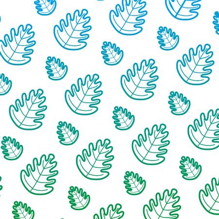 degraded line tropical leaf botany nature background vector illustration Illustration