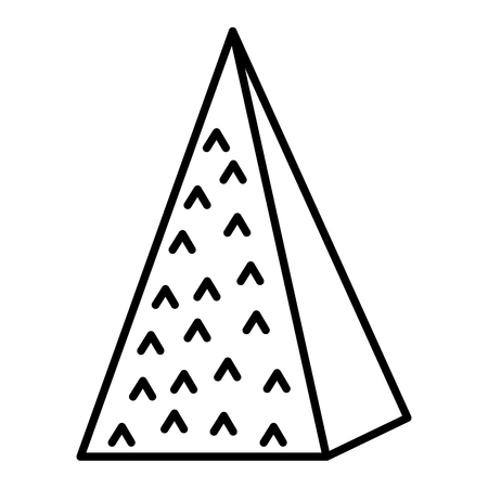 line isometric ecology mountain natural style vector illustration