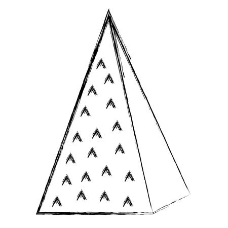grunge isometric ecology mountain natural style vector illustration