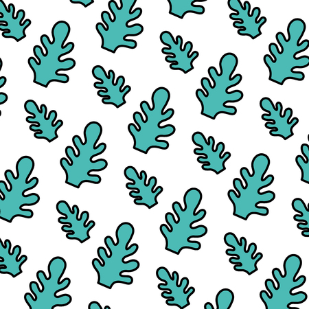 color botanic cute leaf style background vector illustration