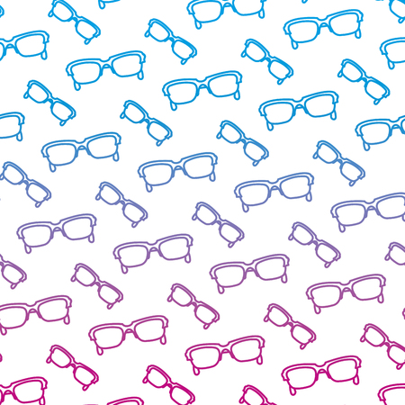 degraded line fashion sunglasses object style background vector illustration