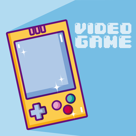 Videogame cartoons concept Illustration