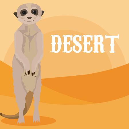 Desert animal cartoon
