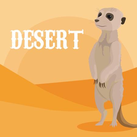 Dibujos animados de animales del desierto