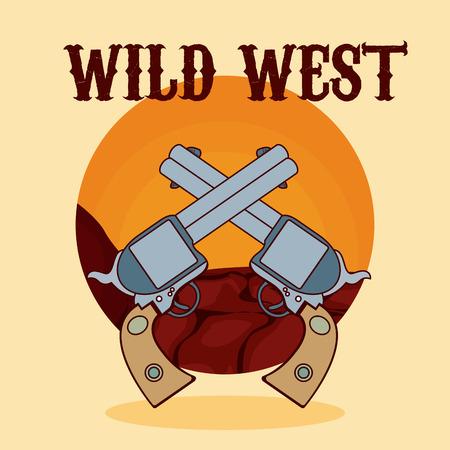Concetto di selvaggio west