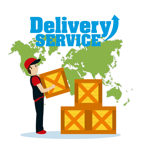 World delivery service Illustration
