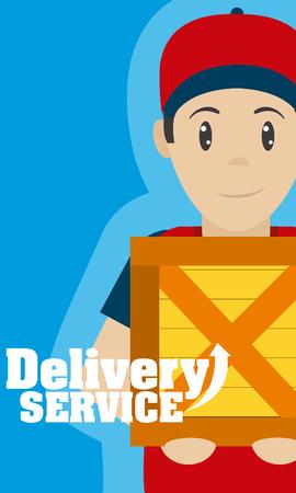 Concept de service de livraison