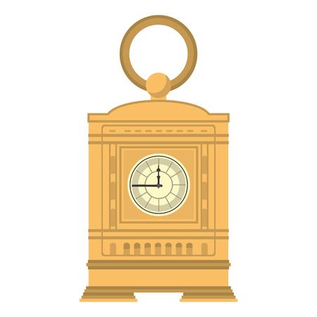 mantel clock manual structure design vector illustration Stock Illustratie
