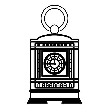 line mantel clock manual structure design vector illustration Stockfoto - 106906113