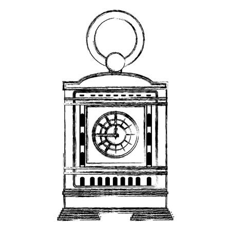 grunge mantel clock manual structure design Stockfoto - 107035320