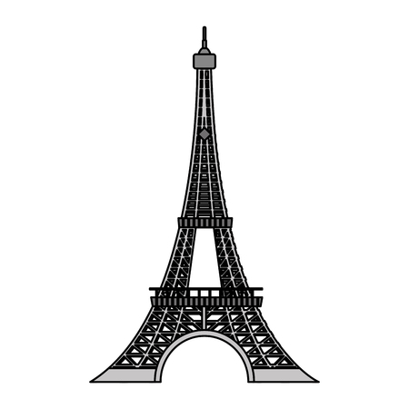 color eiffel tower architecture from paris france vector illustration Illustration