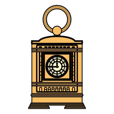 color mantel clock manual structure design vector illustration
