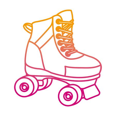 degraded line roller skate fun art style