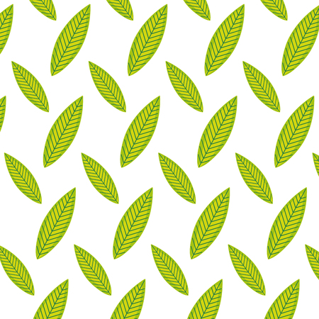 exotic leaf botany style background vector illustration