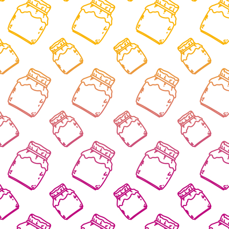 degraded line crystal glass with delicious honey background vector illustration Illustration