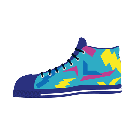 fashion sneaker confortable shoes style vector illustration