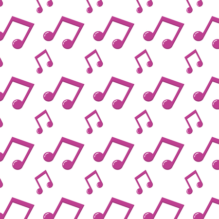 2 eighth musical note rhythm background Ilustração