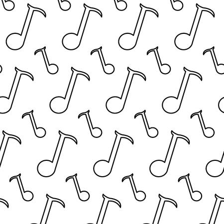 line quarter musical note sign background