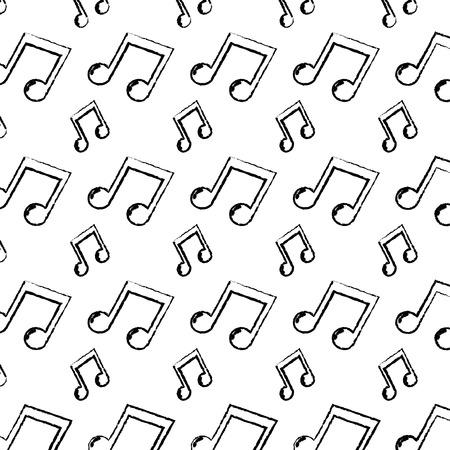 grunge 2 eighth musical note rhythm background Illustration