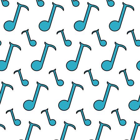 color quarter musical note sign background
